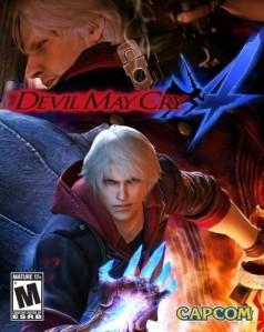 Kover Devil May Cry 4, yang menunjukkan hero baru, Nero.